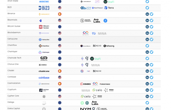 Staking Providers – supported upcoming networks