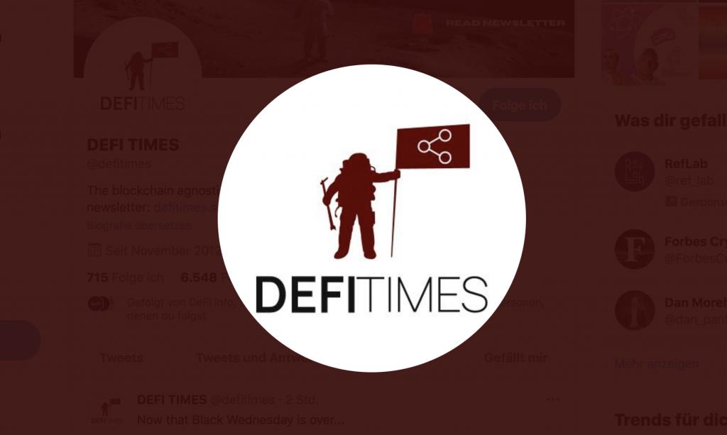 DEFI TIMES NEWSLETTER LOGO