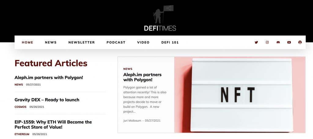 DeFi Times Website