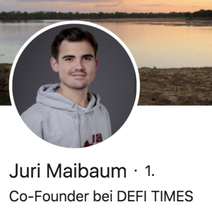 Juri Maibaum DeFi Times Newsletter
