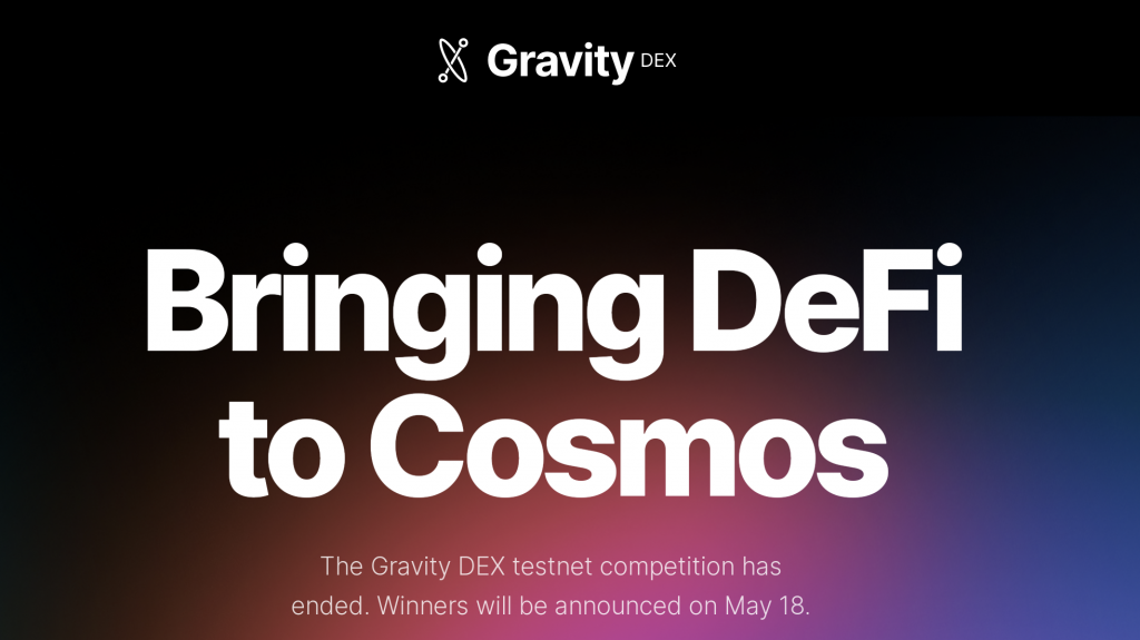 Gravity DEX Cosmos ecosystem