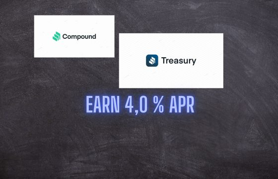 Compound Treasury for financial institutions