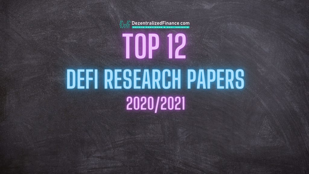 Top 12 DeFi Research Papers