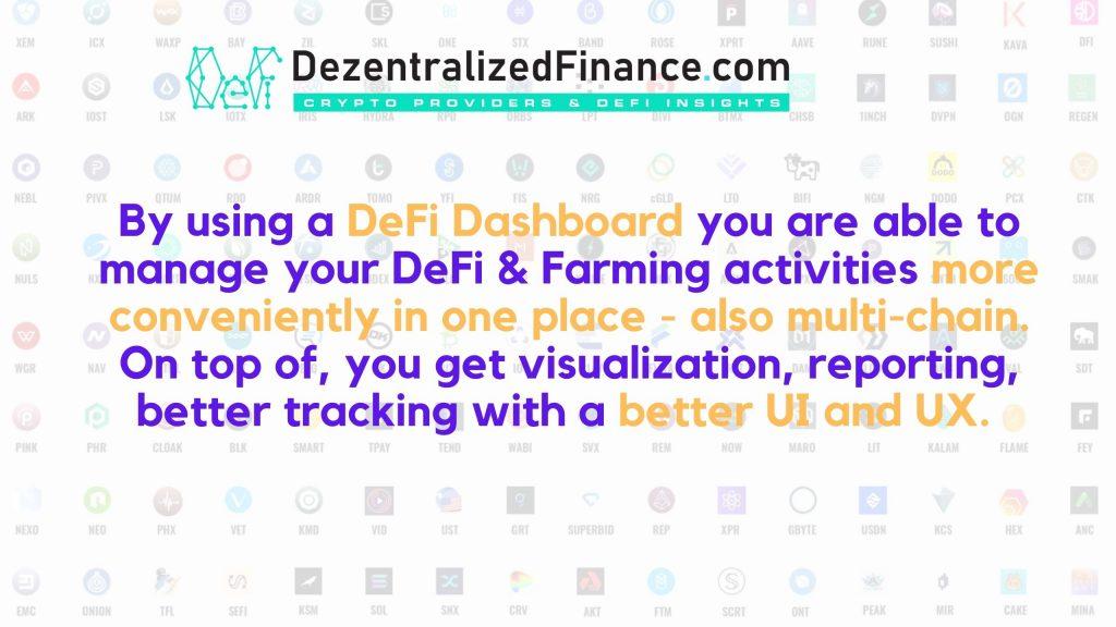 DeFi Dashboards explained 2021