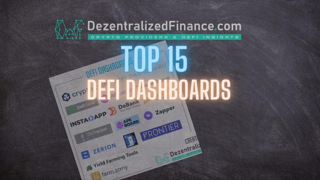 Top 15 DeFi Dashboards 2021