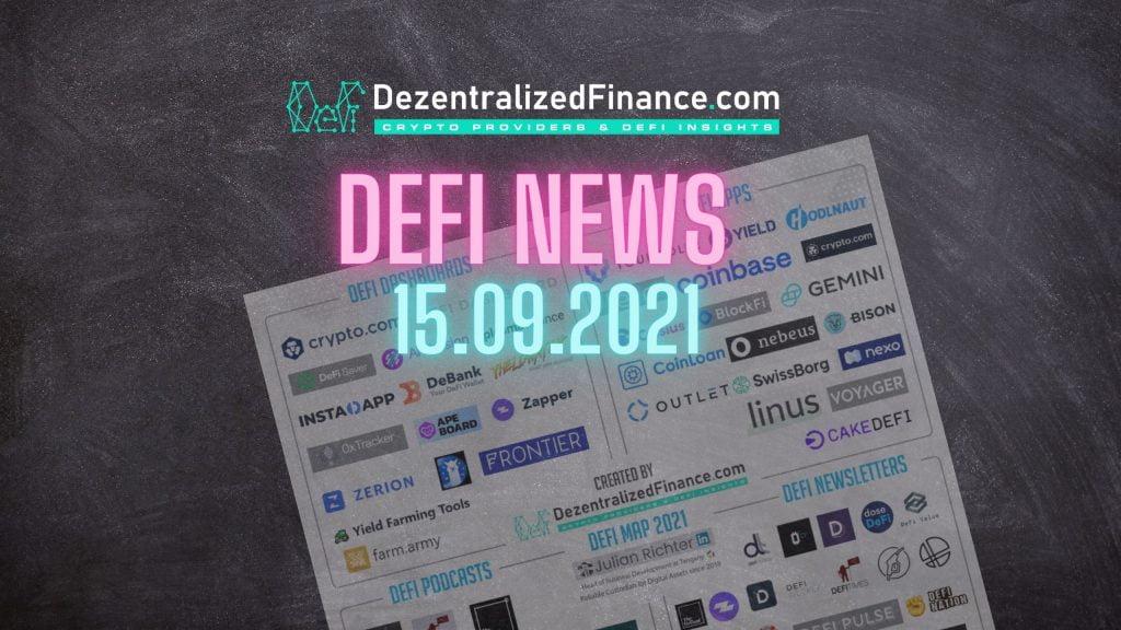 DeFi News 15.09.2021