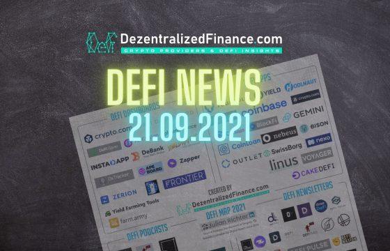 DeFi News 21.09.2021