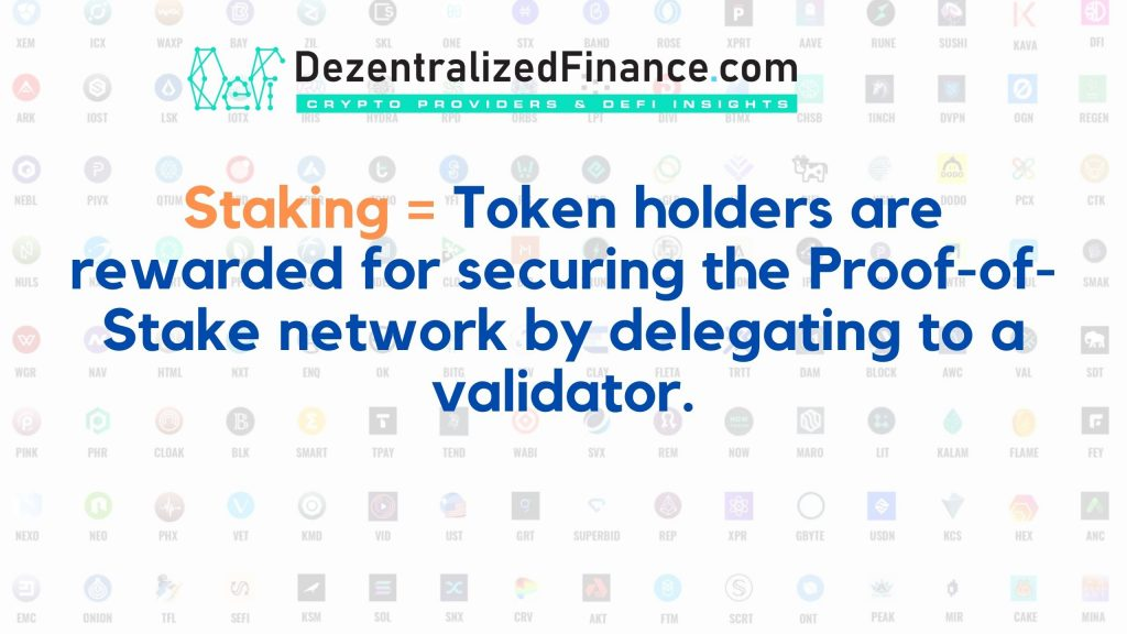 Staking explained by DezentralizedFinance