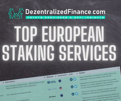 Top European Staking-as-a-Service Platforms